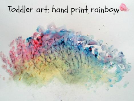 Hand print rainbow