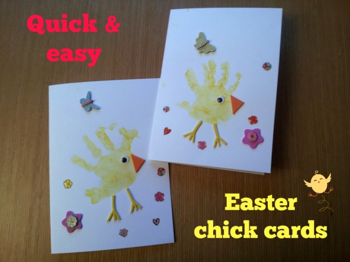 Easy Easter chick cards