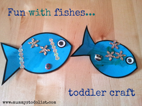 Fun with fishes toddler craft