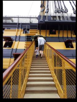 HMS Victory steps