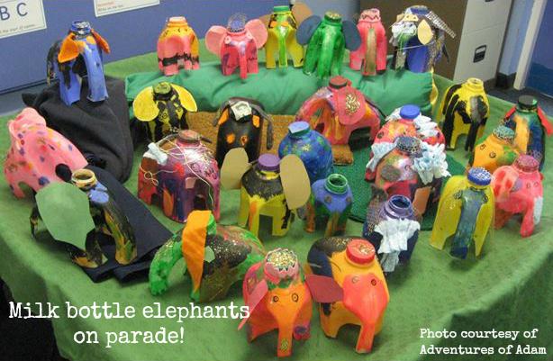 Elmers Day Parade elephants