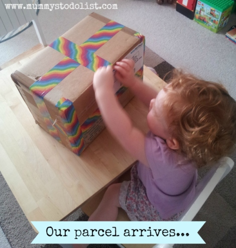 Book exchange parcel arrives