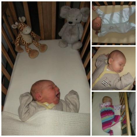 Little Miss in her crib
