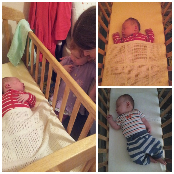 Little Mister in the crib