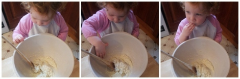 Peppa Pig cakes mixing