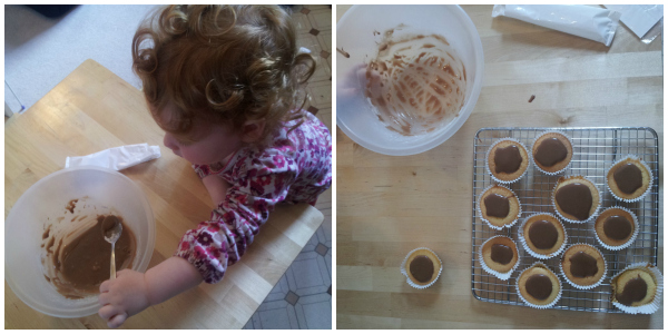 Peppa Pig cakes making muddy puddle icing
