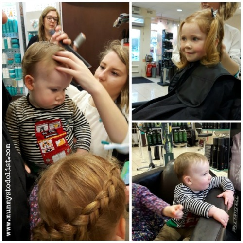 First haircuts photo collage